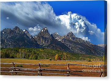 Canvas Print featuring the photograph Clouds Rising by Diane E Berry