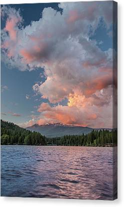 Clouds Rising From Shasta Canvas Print by Greg Nyquist