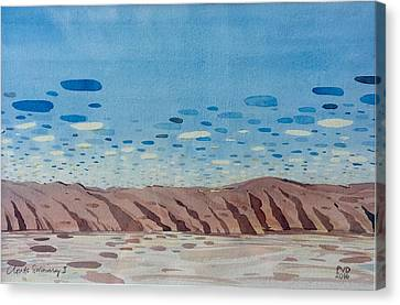 Clouds Swimming Canvas Print by Vaughan Davies