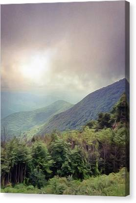 Clouds Upon Graybeard Canvas Print