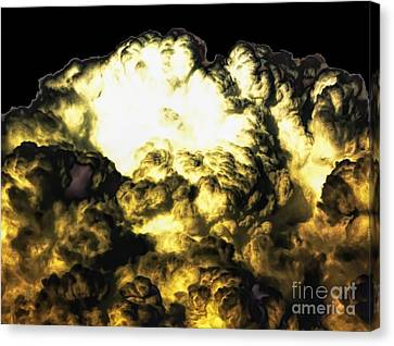 Clouds With Soft Dark Low Contrasts Effects Canvas Print