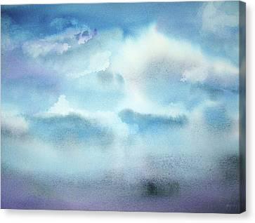 Canvas Print featuring the painting Cloudscape by Ellen Levinson