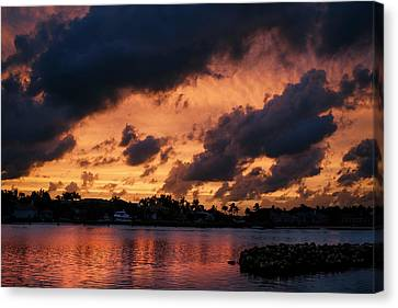 Canvas Print featuring the photograph Cloudscape by Laura Fasulo