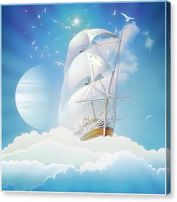Cloudship Canvas Print