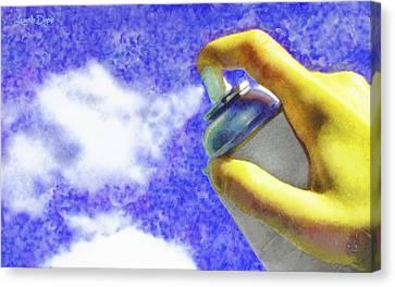 Watering Can Canvas Print - Cloudspreading - Da by Leonardo Digenio