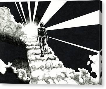 Cloudwalker Canvas Print by Benjamin Butcher