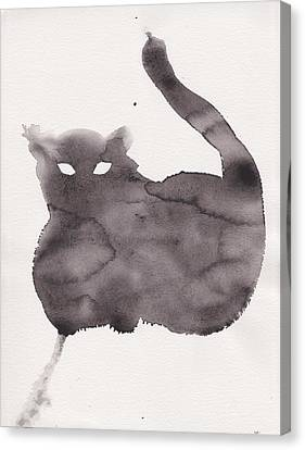 Canvas Print featuring the painting Cloudy Cat by Marc Philippe Joly