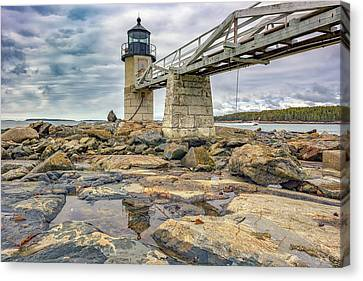 Cloudy Day At Marshall Point Canvas Print by Rick Berk