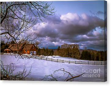 Cloudy Day In Vermont Canvas Print