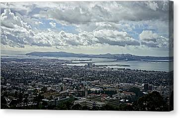Cloudy Day Over The Bay Canvas Print