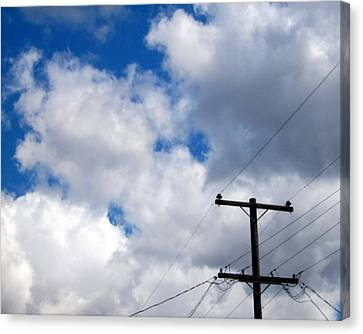 Cloudy Day Canvas Print by Patricia Strand