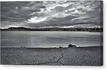 Cloudy East Bay Hills From The Bay Canvas Print