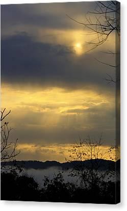 Cloudy Sunrise 4 Canvas Print by Teresa Mucha
