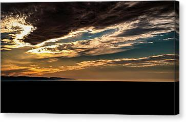 Cloudy Sunset Canvas Print by Onyonet  Photo Studios