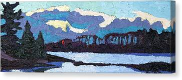 Cloudy Sunset Canvas Print by Phil Chadwick