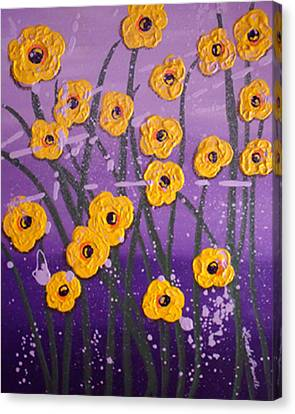 Cloudy With A Chance Of Flowers Canvas Print by Linda Powell