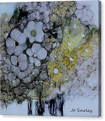 Canvas Print featuring the painting Cloudy With A Chance Of Sunshine by Joanne Smoley