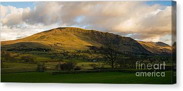 Clough Head At Sunset Canvas Print by John Collier