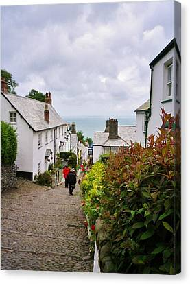 Clovelly High Street Canvas Print by Richard Brookes