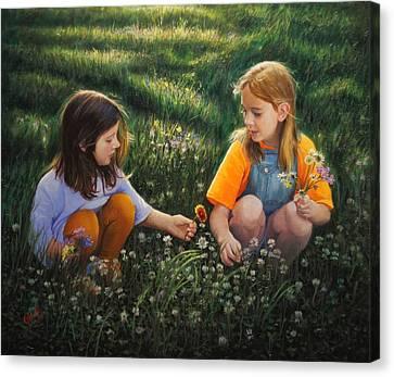 Clover Field Surprise Canvas Print