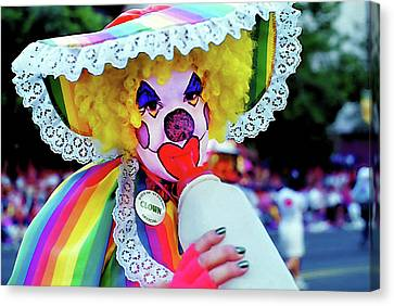 Clown 2 - Pioneer Day Parade  Canvas Print by Steve Ohlsen