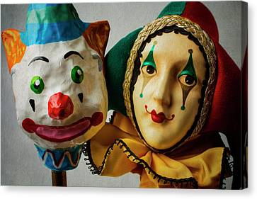 Fool Canvas Print - Clown And Jester by Garry Gay