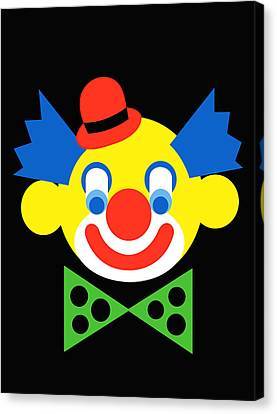 Clown Canvas Print by Asbjorn Lonvig