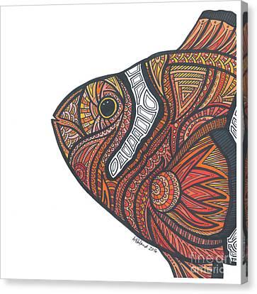 Clown Fish Canvas Print by Allie Rowland