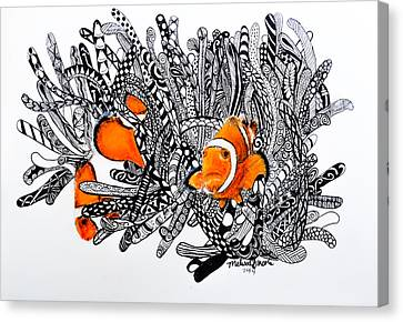 Clown Fish Canvas Print by Melissa Lincoln
