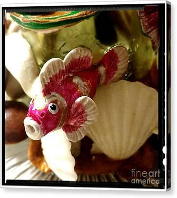 Clown Fish Canvas Print - Clown Fish Peeking Through The Shell's by Kirk Wieland