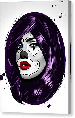 Clown Girl Canvas Print