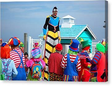 Clown Hall Meeting Canvas Print by Bob Cuthbert