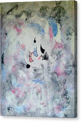 Clown In The Clouds Canvas Print