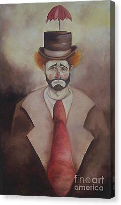 Canvas Print featuring the painting Clown by Marlene Book