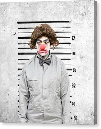 Clown Mug Shot Canvas Print