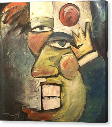 Clown Painting Canvas Print by Tim Nyberg