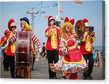 Clown Parade Canvas Print by Bob Cuthbert