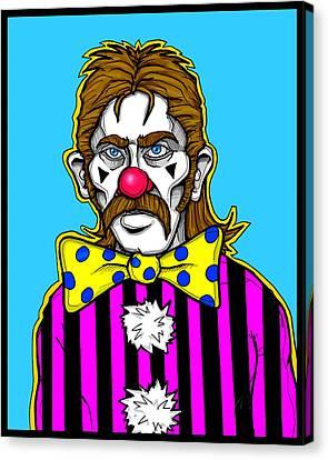 Clown Stallion Canvas Print by Christopher Capozzi