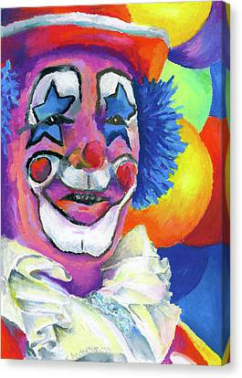 Clown With Balloons Canvas Print by Stephen Anderson