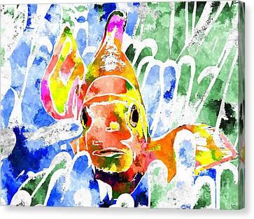 Clown Fish Canvas Print - Clownfish by Daniel Janda