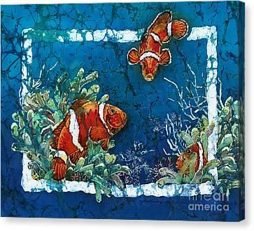 Clowning Around - Clownfish Canvas Print by Sue Duda