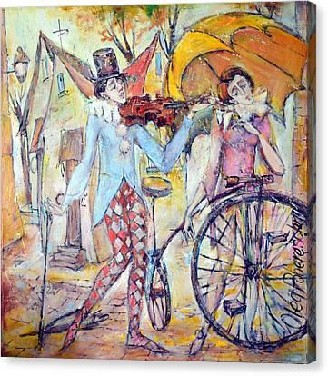 Clowns Canvas Print