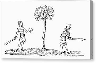 Club-ball In The Early Fourteenth Canvas Print