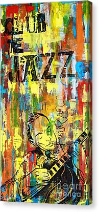 Club De Jazz Canvas Print by Sean Hagan