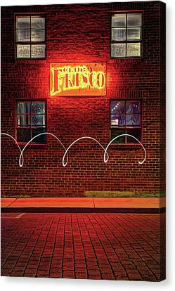 Razorbacks Canvas Print - Club Frisco Motion - Rogers Arkansas Usa by Gregory Ballos