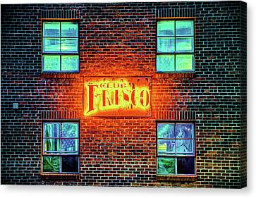 Club Frisco Neon - Downtown Rogers Arkansas Canvas Print by Gregory Ballos