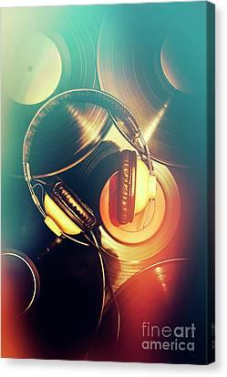 Disc Canvas Print - Club Music Art by Jorgo Photography - Wall Art Gallery