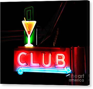 Club Neon Sign 24x20 Canvas Print by Melany Sarafis