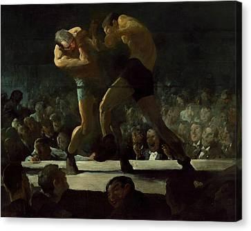 Club Night Canvas Print by George Bellows