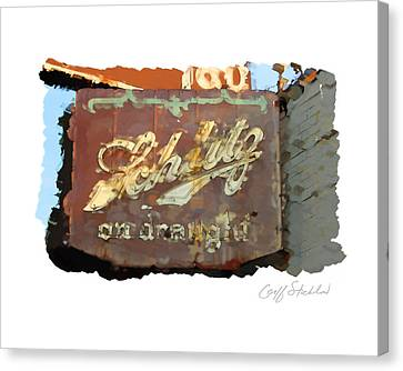 Club Tap Sign Canvas Print